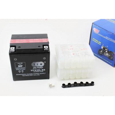 Аккумулятор 28Аh UTX30L-BS, (180/160/130мм)