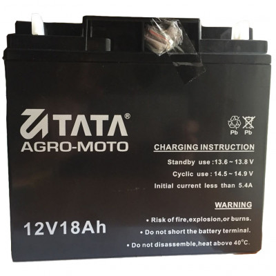 Аккумулятор на мотоблок гелевый 18 Аh/12v