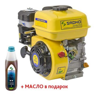 Двигатель Sadko GE-200PRO (шлицы, масляный фильтр)