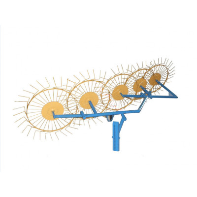 Грабли-ворошилки 5-ти колесные солнышко Bulat на мототрактор
