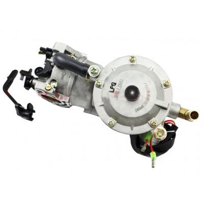 Газовый карбюратор LPG (пропан-бутан) для генераторов 4-6кВт (механизм рычажный) 177F